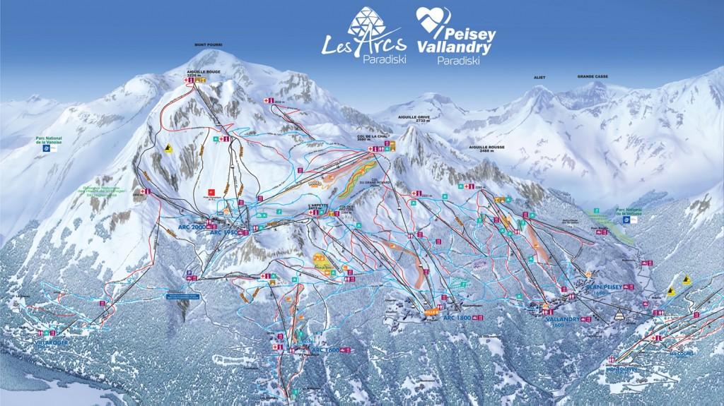 Plan Les Arcs / Peisey-Vallandry