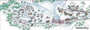 vallandry-plan-village