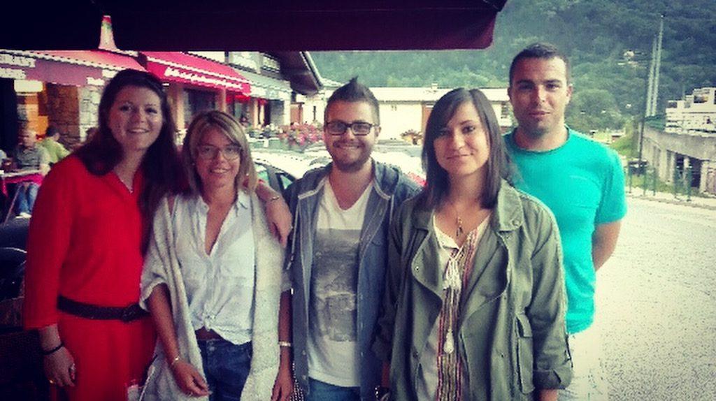 Sarah, Mélina, Sylvain, Nathalie, Manu